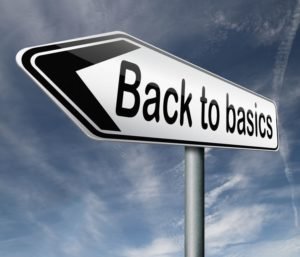 Back to Basics arrow sign