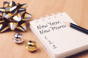New Year Plan with decorations